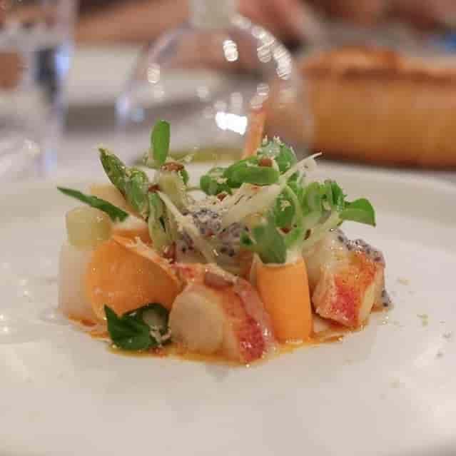 Lobster tail salad
